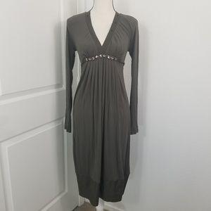Max Mara Midi Dress Embellished Empire Waist